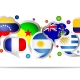 Spanish language country icons